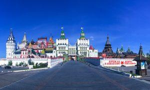 Izmaylovo Kremlin si Moscova vazuta de la inaltime