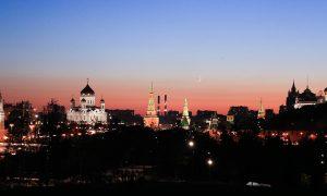 Moscova, o plimbare nocturna in imagini