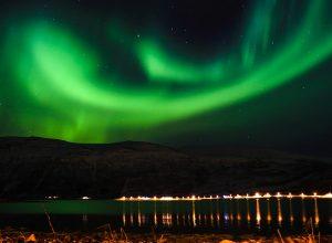 Cum se vede aurora boreala in Tromso, Norvegia